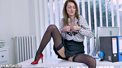 Skirt, Wank, Office nylon, Nylon tease, Nylon office, Nylon heels