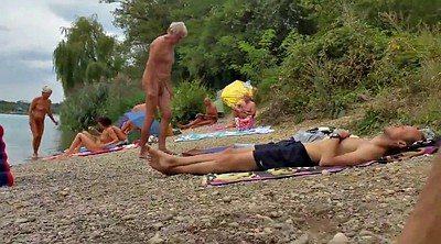 Nudist, Nudist beach, Old grandpa