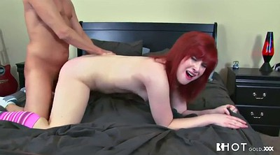 Hairy anal, Chubby redhead, Spanked and fucked, Doggy anal, Big cunt