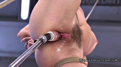 Anal toy, Anal dildo, Insertion, Fucking machine, Tied anal