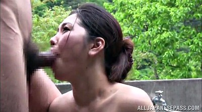 Japanese milf, Tit fuck, Asian threesome