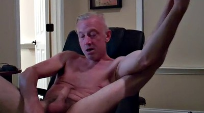 Sex, Masturbating, Dad gay, Computer, Chair, Gay daddy