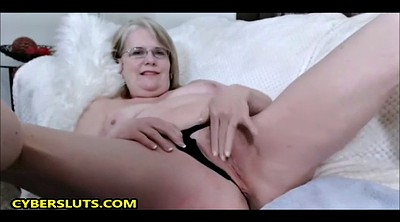 Glasses, Granny cam, Chubby mature