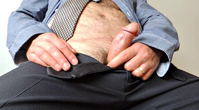 Daddy, Hairy handjob, At work