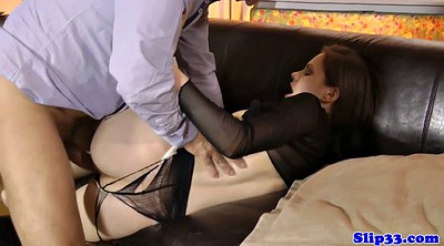 Pantyhose fuck, Pantyhose blowjob, Pantyhose man, White pantyhose, Torn