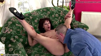 Pee, Old and young, Real mom, Anal mom