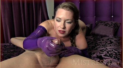 Gloves, Glove, Gloves handjob, Gloved, Glove handjob, Purple