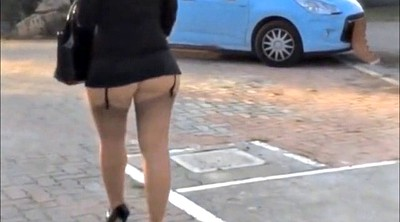 Upskirt, Sexy mature, Walk