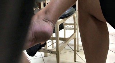 Shoeplay, Candid feet, Milf foot, Footing