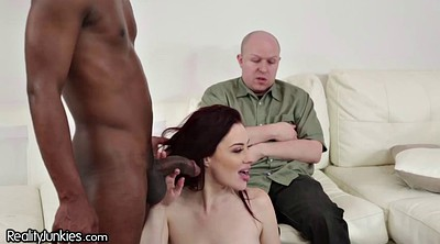 Swallow, Redhead, Housewife, Cuckold husband, Interracial bbc, Hairy bbc