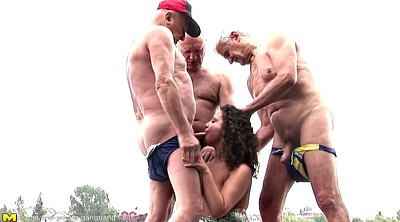 Mature group, Girl fuck girl