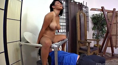 Close-up, Femdom asian, Face fuck