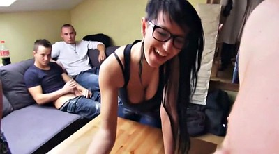 Young creampie, Wife gangbang