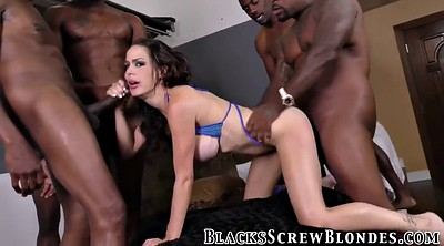 Interracial gangbang, Blowbang