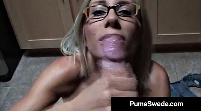 Glasses, Milky, Blow job, Porn stars, Swedish, Porn star