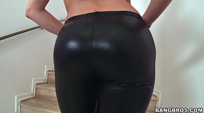 Heels, Leather, High-heeled, Tight pants