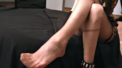 Nylon feet, Nylon foot, Show, Nylon fetish