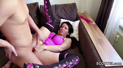 Mom and son, Mom anal, Step son