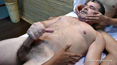 Massage, Dad, Asian gay, Asian spit
