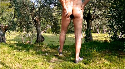 Bottle, Naked, Forest, Fist anal
