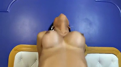 Black anal, Cum on face, Ebony shemale, Shemale face, Floor, Black cock anal