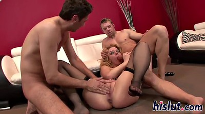 Double anal, Threesome creampie