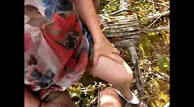 Outdoor, Upskirt mature, Upskirt granny, Granny outdoor, Forest