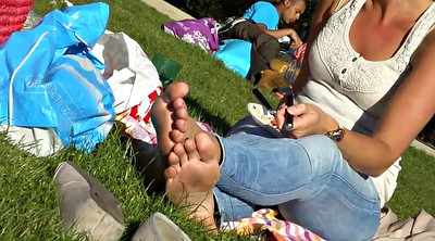 Candid, Feet soles, Park, Foot sole, Dirty