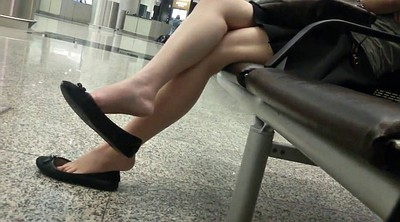 Feet, Leggings, Asian feet, Candid, Asian foot, Shoeplay