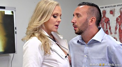 Julia ann, Doctor, Handjob, Help, Clinic, Ejaculating