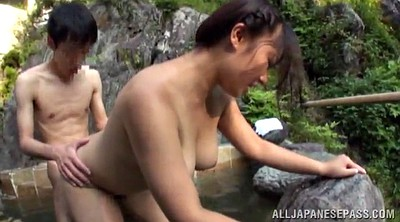 Asian busty, Hot spring, Asian chubby