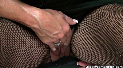 Cougar, Lauren, Screams, Pussy mom, Pantyhose mom, Mom pussy