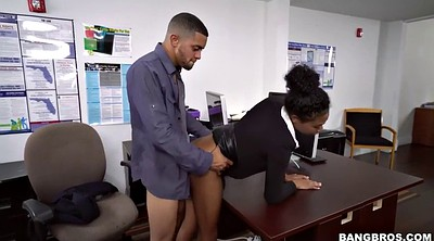 Ivy, Office sex, Officer, Black big tits