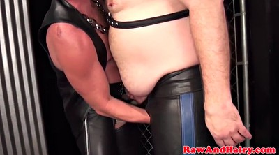 Leather, Hairy masturbation mature, Hairy chubby