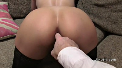 Stockings anal, British amateur, Casting ass, Anal stocking