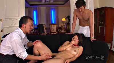 Japanese wife, Wife threesome, Asian uncensored