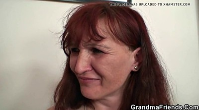 Granny, Games, Granny threesome, Mature double