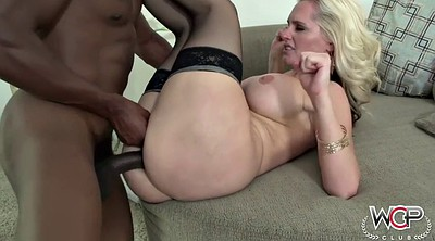 Chubby, White blonde, Interracial creampie
