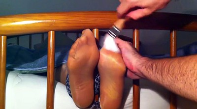 Foot, Tickle, Tickling, Nylon feet, Tickled