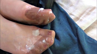 Nylon foot, Nylon feet, Feet cum
