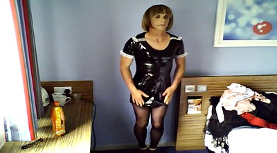 Maid, Dressing, Latex maid, Gay latex