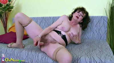 Oldnanny, Mature masturbating, Czech mature, Hairy granny