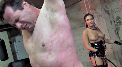 Femdom, Mistress, Whipping, Tits whipping, Asian femdom