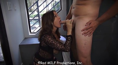 Mom son, Mom & son, Mature handjob