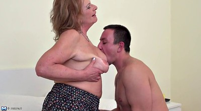 Boy, Young boy, Mature amateur, Granny and boy