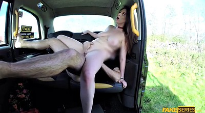 Taxi, Ginger, Big tits taxi