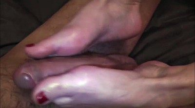 Footjob, French, Mature foot, Mature feet, French mature
