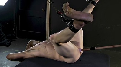 Machine, Tied, Old gay, Young dildo, Old young