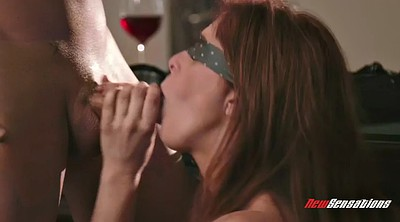 Blindfold, Penny pax, Blindfolded, Blowjobs, Hairy redhead