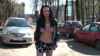 Public, Streets, Russian public, Naked girl